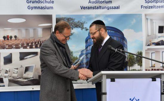 הרב טייכטל וראש העיר ברלין