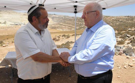 """הנשיא בהר חברון, צילום: מארק ניימן לע""""מ"""