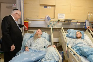 הנשיא ביקר את פצועי הפיגועים האחרונים