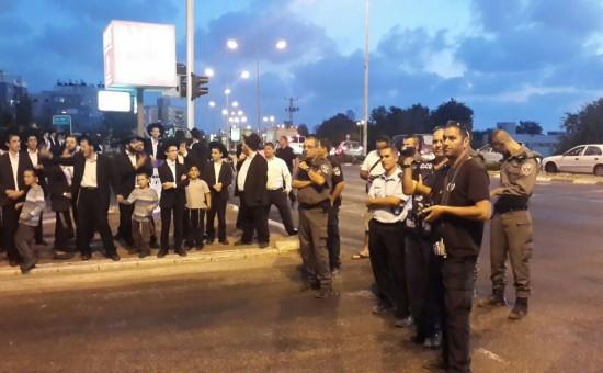 ההפגנה באשדוד. צילום: חטיבת דובר המשטרה