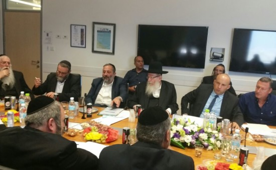בנט במפגש עם הנציגים החרדים