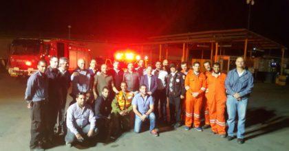 משלחת מארגנטינה לפתח תקווה: במוקד; מערך החירום בעיר