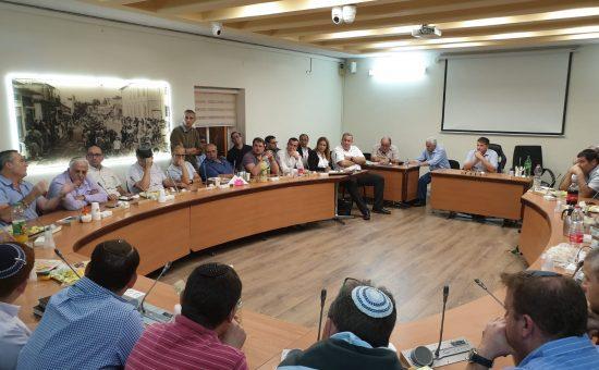 פורום הציונות הדתית, התכנס במליאת מועצת העיר