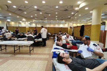 המתנדבים שברו 'שיא' בתרומות דם