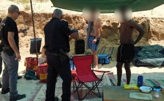 אלכוהול בחוף אשקלון