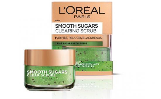 SMOOTH SUGARS לוריאל פריז פילינג סוכר עם זרעי קיווי, לטיהור העור CLEAR SCRUB (ירוק) – 59.90שח צילום יחצ חול (3)
