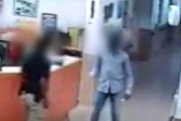 תיעוד מבית החולים: הסודני שולף סכין – והמאבטח בורח עם הנשק