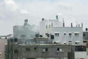 """מצלמות האבטחה תיעדו: הפצצת צה""""ל בעזה"""