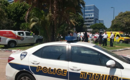 קריסת החניון בתל אביב צילום: דוברות המשטרה