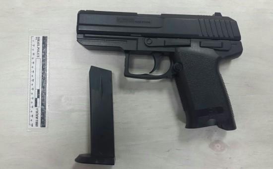 האקדח שנתפס (צילום: דוברות המשטרה)