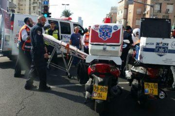 תיעוד: הילד קופץ לכביש – ונפגע