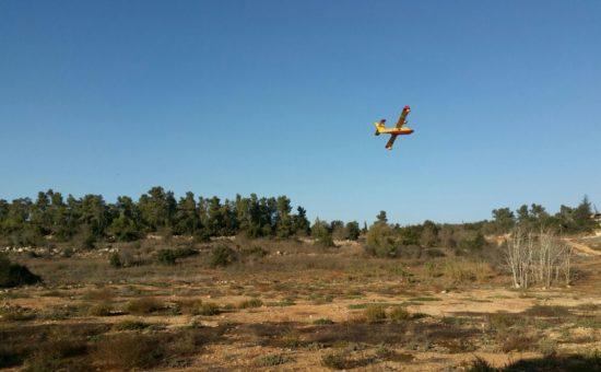 מטוס כיבוי בהרי ירושלים