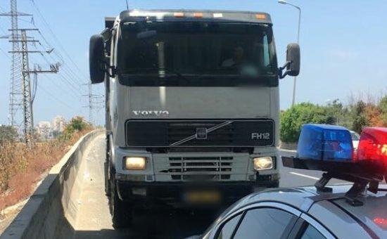 המשאית, צילום: דוברות המשטרה