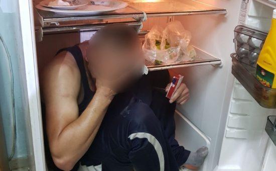 התחבא במקרר, צילום: דוברות המשטרה