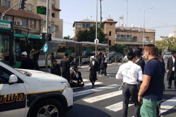 צפו: מהומות בסמוך ללשכת הגיוס בעקבות מעצר עריק