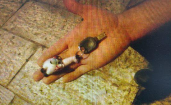 המפתחות שנמצאו אצל החשוד, צילום: דוברות המשטרה