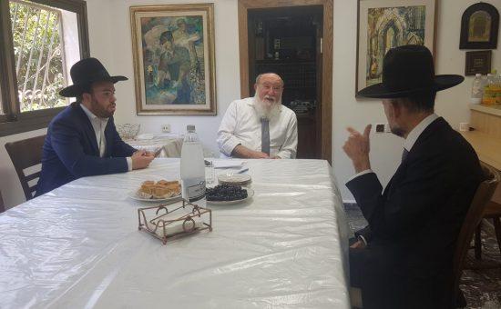 אורי מקלב אצל הרב ישראל קירשטיין
