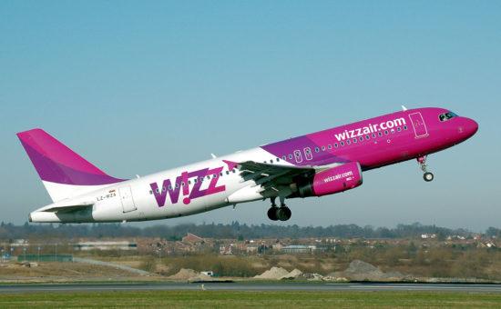 מטוס של חברת Wizz Air בהמראה. אילוסטרציה