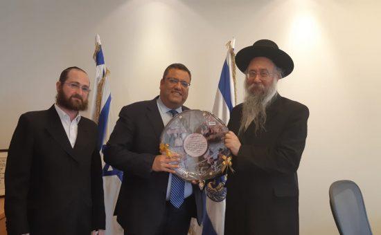 עם ראש העיר ירושלים משה ליאון