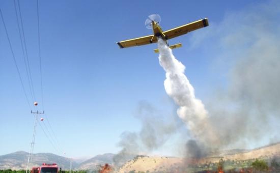 מטוס כיבוי אש בפעולה   אילוסטרציה   צילום: כבאות והצלה