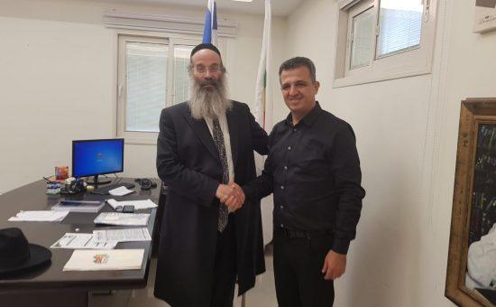 ראש עיריית רמת גן אצל ראש העיר בני ברק