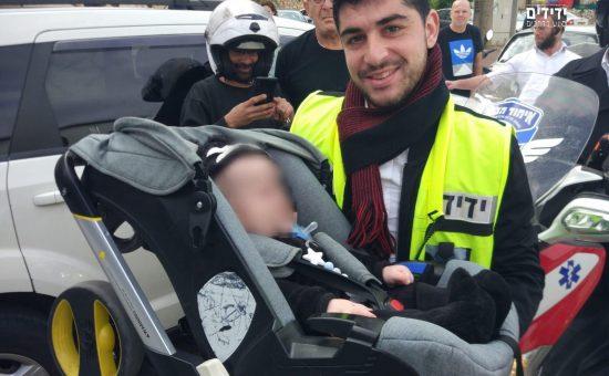 מתנדבי ידידים חילצו ילד מרכב