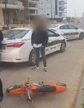 בן 10 נתפס רוכב על אופנוע ללא רשיון ו/או ביטוח