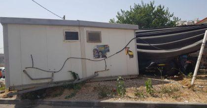 מודיעין עלית: משאית הידרדרה לתוך גן הילדים