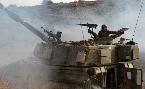 טנק ישראלי בגבול הצפון