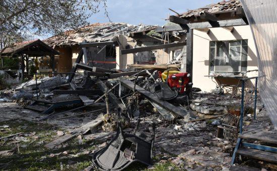 הבית בשרון שנפגע מרקטה