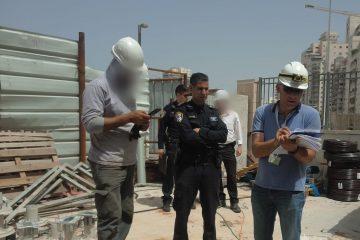 המשטרה פשטה על אתרי בניה בפתח תקוה