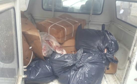 בשר שהוברח משטחי הרשות הפלסטינית (צילום: דוברות המשטרה)