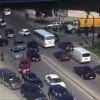 תיעוד: החיילים כעסו על פקק התנועה ותקפו שוטרים