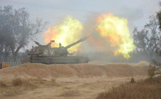 הפגזת טנק, צילום דובר צהל