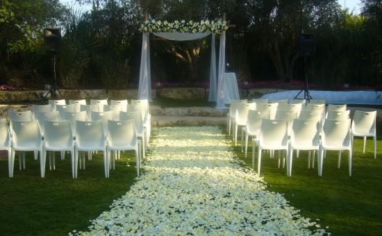 חופה בחתונה. צילום: פרחי אלינור