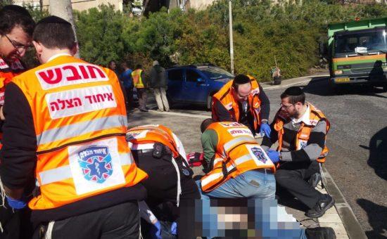 זירת פיגוע הירי בחיפה (צילום: דוברות איחוד הצלה)