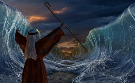 ציור: קריעת ים סוף
