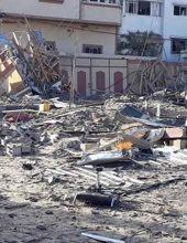 תיעוד: משרדו של הנייה לאחר הפיצוץ