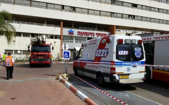 אמבולנס בבית החולים מעייני הישועה. צילום: איחוד הצלה