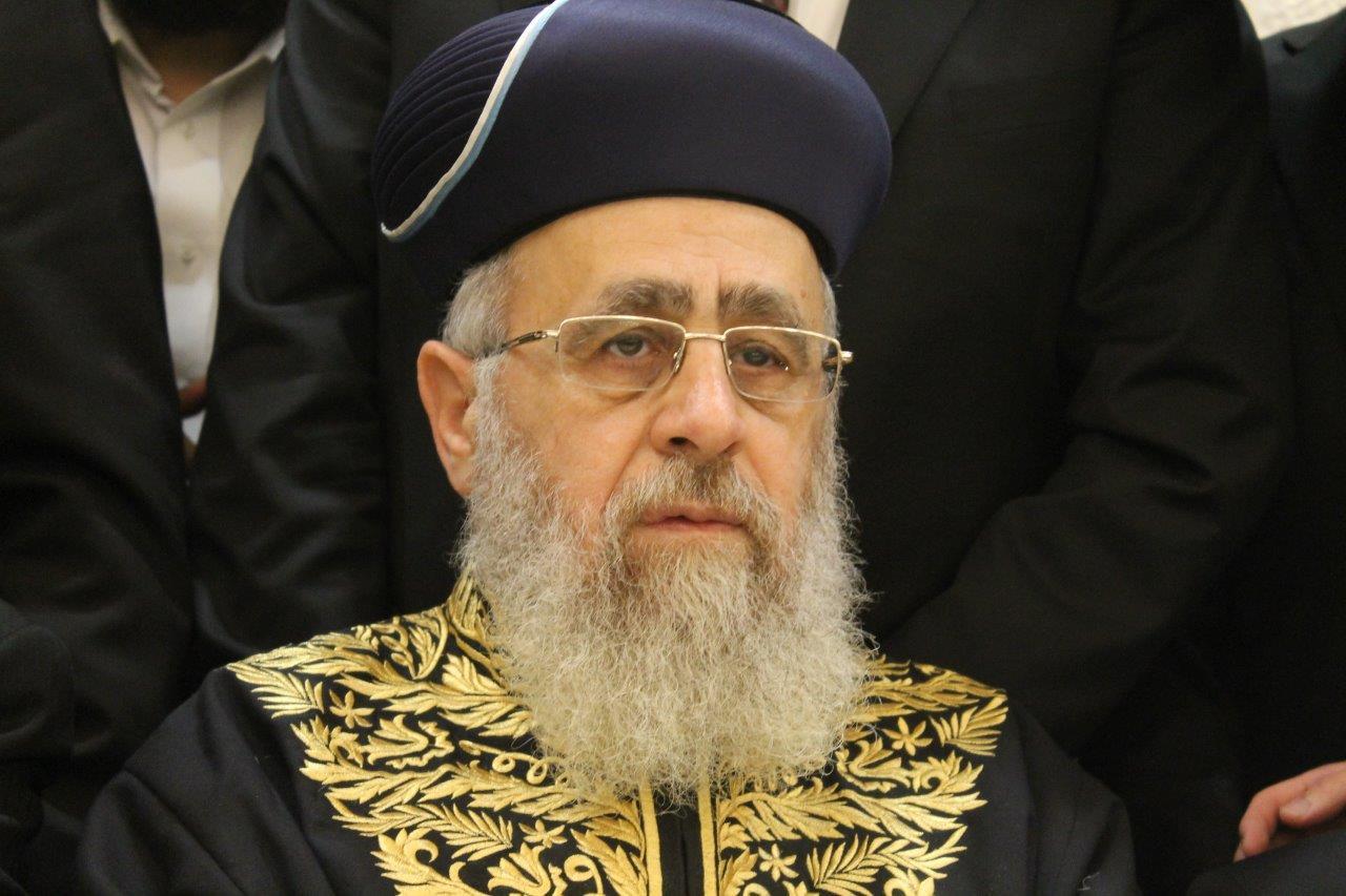 """הראשון לציון הגר""""י יוסף: """"ניסיונות הרפורמים להכניס גויים לעם ישראל, לא יצלחו"""""""