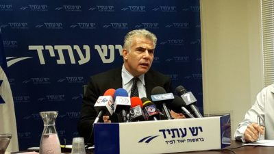 רוכב על גל השנאה • יאיר לפיד: מה קרה ל'יהודי לא מגרש יהודי'?
