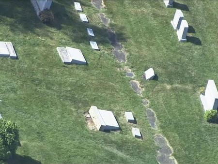 שוב זה קורה: בית קברות יהודי נוסף הושחת בפילדלפיה