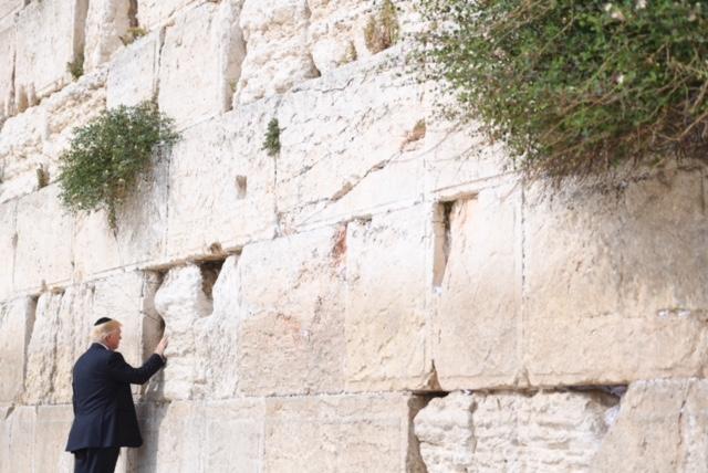 """הנקודה הפנימית בכל אחד, גם בנשיא ארה""""ב, מושכת אותו לירושלים"""