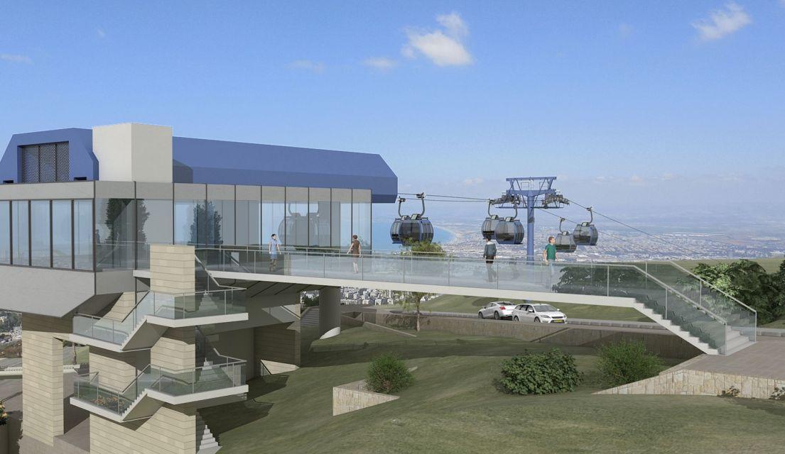 מהבית לבית הספר – באויר • פרויקט הרכבל של חיפה יצא לדרך
