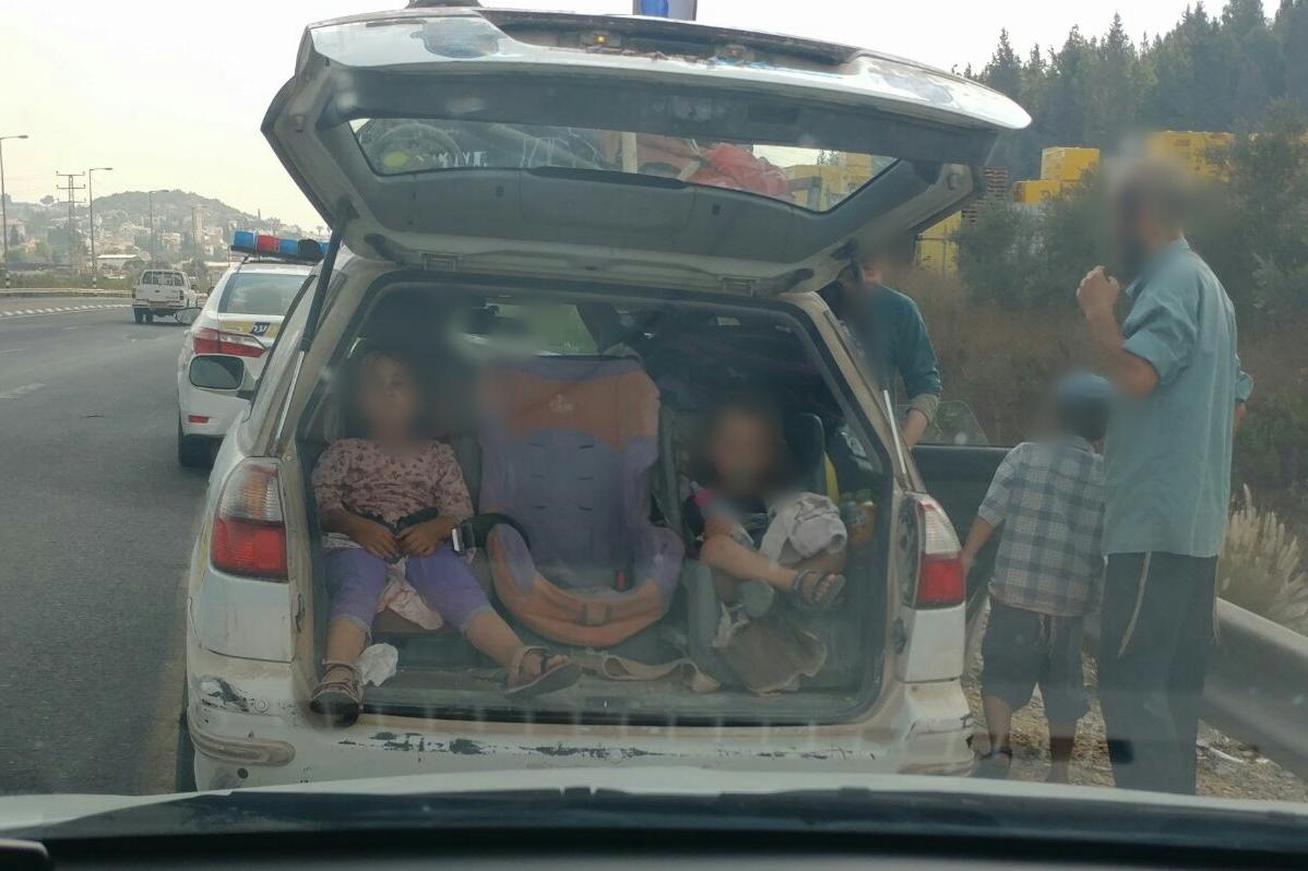 בדרך לשבת: משפחה בת 9 נפשות ברכב משפחתי
