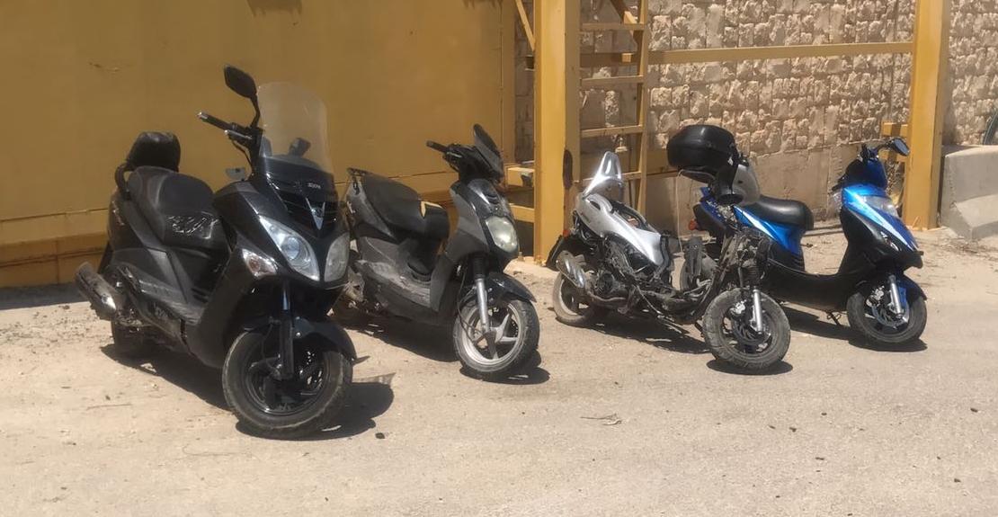 4 אופנועים גנובים מירושלים נמצאו • בסיום: החלו הפרות סדר