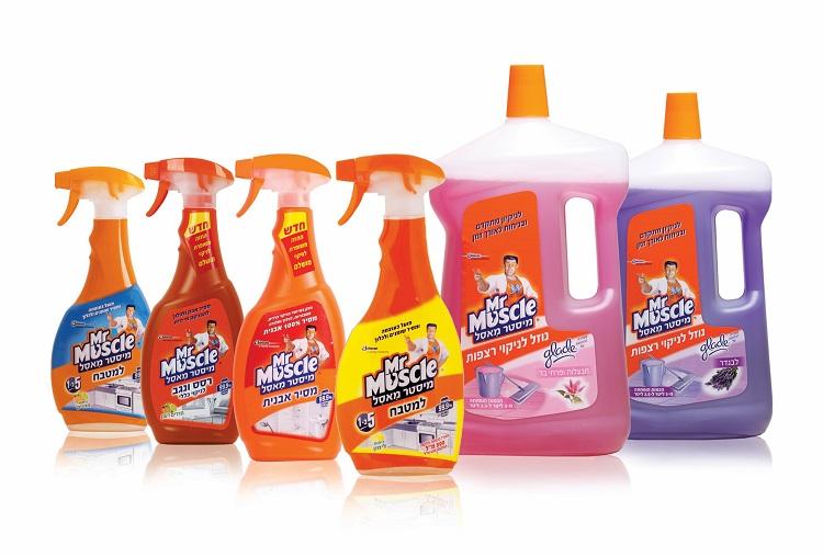 סדרת מוצרי נקיון של המותג הבינלאומי מיסטר מאסל (Mister muscle)