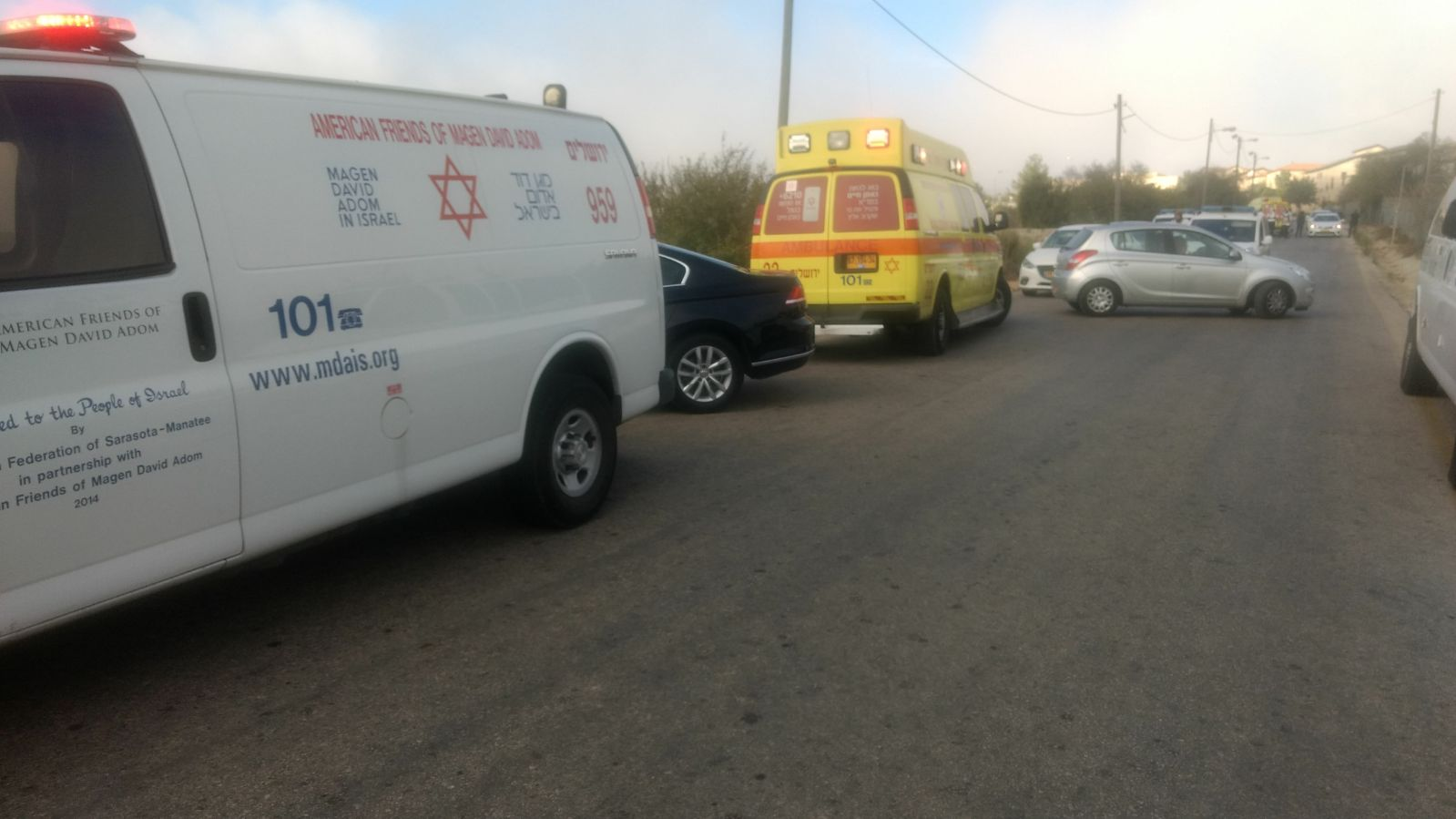 """שני מאבטחים ולוחם מג""""ב נהרגו בפיגוע בהר אדר • חמאס בירך"""