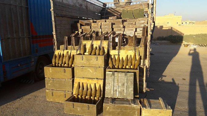 צפו: צבא סוריה מציג לראווה כמויות ענק של נשק שתפס בימים האחרונים