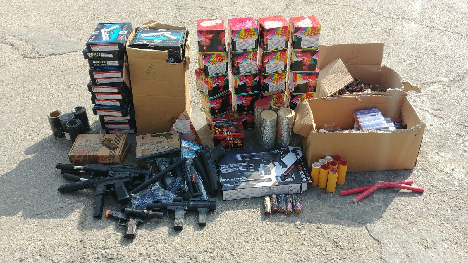 צפו: אלו ה'נשקים' שמשטרת ישראל תפסה בקלנדיה